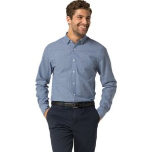 New York Fit Microprint Oxford Shirt | Tommy Hilfiger USA