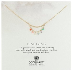 Dogeared Love Gems, Multi-Tiny Healing Gem with Tube Necklace, 18