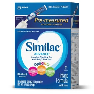 Similac Advance Infant Formula with Iron, Powder, 14.4g Stickpacks Pack of 16 | Jet.com