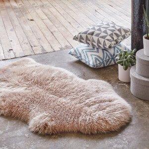 Royal Dream 100% Sheepskin Rug - Light Brown Traditional Gifts   TheHut.com