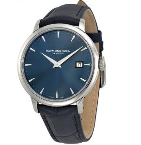 RAYMOND WEIL Toccata Blue Dial Black Leather Men's Watch