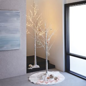 LED Light-Up Upswept Trees | west elm