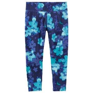Kid Girl Floral-Print Active Leggings | OshKosh.com