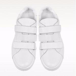 Jil Sander White Nappa Leather Sneaker 36 (6 US | 3 UK | 36 EU) at FORZIERI