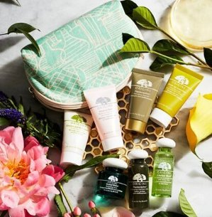 3 Free Deluxe Samples + Cosmetic Bag With Origins Purchase @ macys.com
