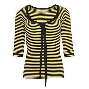 Striped Scoop Neck Sweater - Marc Jacobs