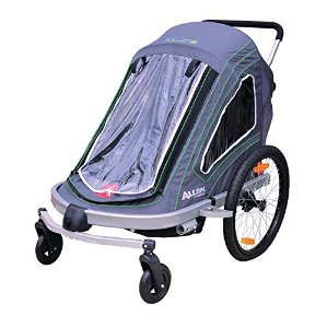 Allen Sports Aluminum 2 Child Trailer/Single & Double Swivel Wheel Stroller