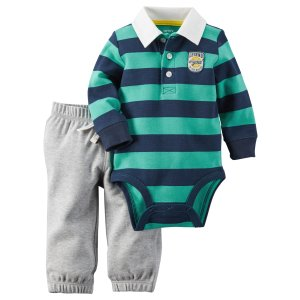 Baby Boy 2-Piece Bodysuit & Pant Set | Carters.com