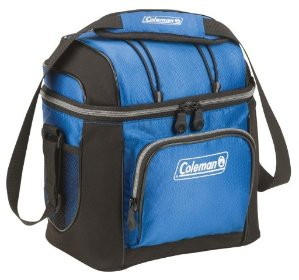 Coleman 9-Can Soft Cooler With Hard Liner, Blue Color
