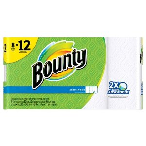 Bounty Select-A-Size White Paper Towels 8 Giant Rolls : Target