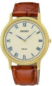 Seiko Men's SUP876 Analog Display Japanese Quartz Brown Watch