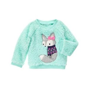 Toddler Girls Mint Fuzzy Pullover by Gymboree