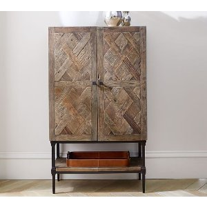 Parquet Bar Cabinet | Pottery Barn