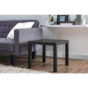 Mainstays Parsons End Table, Balck