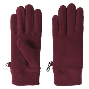 Fleece Gloves in Dark Burgundy from Joe Fresh