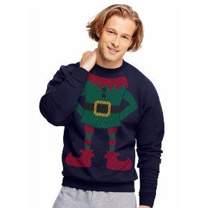 Hanes EcoSmart® Fleece Men's Holiday Sweatshirt