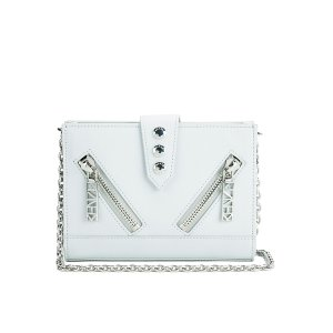 KENZO Women's Kalifornia Wallet on a Chain Crossbody Bag - Light Grey - Free UK Delivery over £50