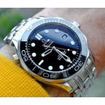 OMEGA Seamaster Black Dial Automatic Steel Men's Watch 21230412001003
