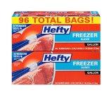 Hefty Slider Freezer Bags, Gallon, 96 Count