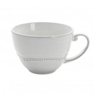Anchor Hocking Isabella White Oversized Mug, set of 4, 14oz