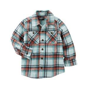 Toddler Boy 2-Pocket Plaid Button-Front Shirt   OshKosh.com