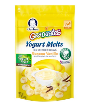 $2.68 Gerber Graduates Yogurt Melts, Banana Vanilla, 1 Ounce