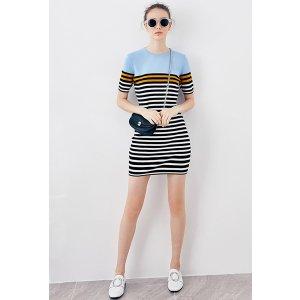 Stripe Knit Dress DR1255