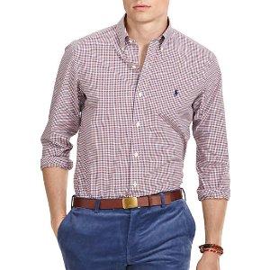 Polo Ralph Lauren Mini-Gingham Poplin Shirt | Belk