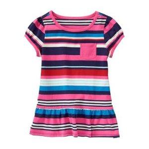 Girls So Pink Stripe Striped Peplum Tee by Gymboree