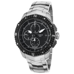 Tissot Men's T-Navigator Automatic Chronograph Stainless Steel Black Dial SS | World of Watches