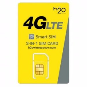 $5.49 Unlimited Talk & Text + 1GB 4G LTE Datah2o Wireless 3-in-1 SIM w/ 1-Month Service