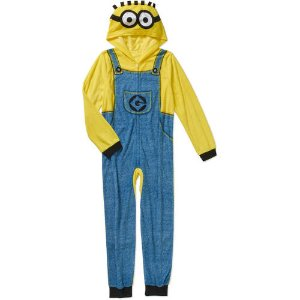 Boys Licensed Hooded Pajama Onesie Union Suit, Available in 8 Characters