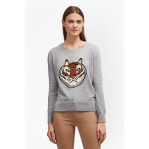 Tiger Knit Embroidered Jumper | Sweaters Sweats | French Connection Usa