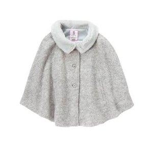 Girls Cozy Grey Knit Cape by Gymboree