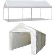 Caravan Canopy 10' X 20' Domain Carport Garage with Sidewall/Enclosure Value Bundle