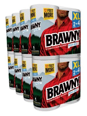 Brawny Pick-A-Size Paper Towels, 16 XL = 32 Regular Rolls