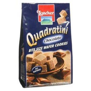 LOACKER Quadratini Bite Size Wafer Cookies Chocolate Flavor 250g