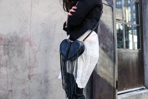 As Low As $86.94 Rebecca Minkoff Heart Fringe Cross-Body Bag