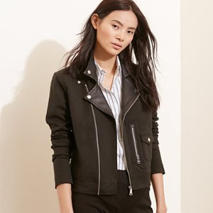 Stretch Cotton Moto Jacket - Leather & Suede � Coats & Jackets - RalphLauren.com
