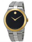 $349 MOVADO Black Dial Two-Tone Stainless Steel Men's Watch