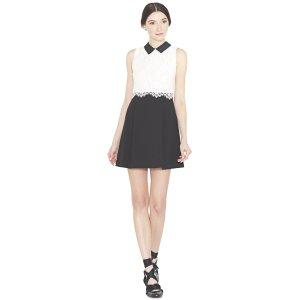 Desra Collared Flare Mini Dress