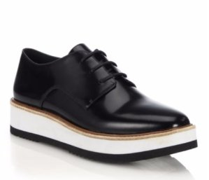 Vince Reed Glazed Leather Platform Oxfords