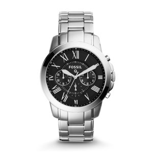 Q Grant Chronograph Stainless Steel Smartwatch - Fossil