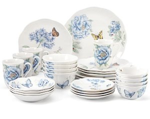 $125.97 Lenox Butterfly Meadow Blue 28-piece Dinnerware Set