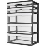 $24.92 Sterilite 5 Drawer Wide Tower- Black
