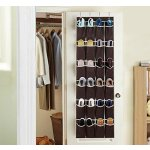 Ohuhu174; 24 Pockets Over-the-Door Shoe Organizer / Shoe Storage Bag, Dark Brown