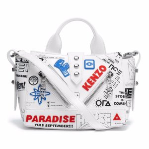 KENZO Women's Kalifornia Mini Tote Bag - White - Free UK Delivery over £50