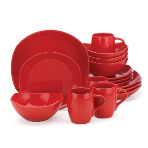 Classic Fjord Chili Red 16-piece Dinnerware Set by Dansk®
