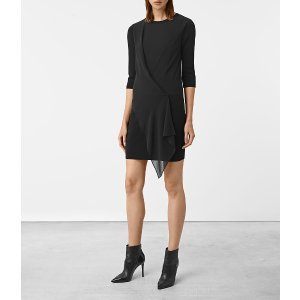 ALLSAINTS US: Womens Kafa Dress (Black)