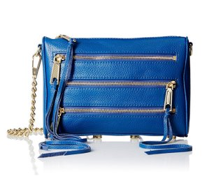 Today only! $68.00 Rebecca Minkoff Mini 5-Zip Convertible Cross-Body Handbag